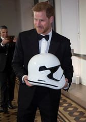 Prince Harry attends the European Premiere of Star Wars: The Last Jedi, at the Royal Albert Hall in London