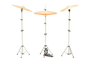 Set of cymbals, 3D rendering