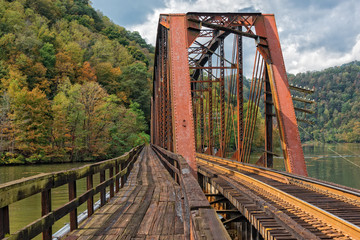 Railroad Trestle At Hawks Nest State Park In West Virginia