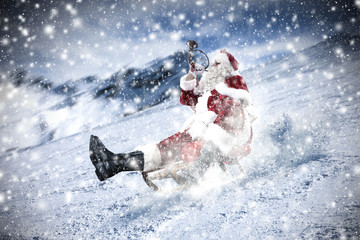 Santa Claus and winter time