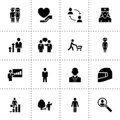 Person icons. vector collection filled person icons