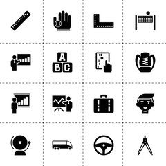 School icons. vector collection filled school icons