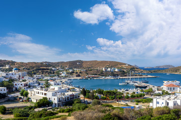 Amazing view to the harbor of Lipsi island, Dodecanese, Greece