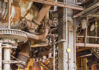 Türaufkleber Schiff rusty industrial scenery