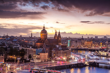 Amsterdam historic center landmark