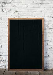 Wall Mural - Design space on black board