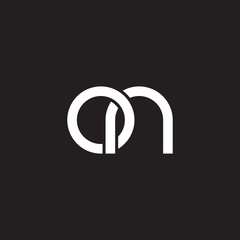 Initial lowercase letter on, overlapping circle interlock logo, white color on black background