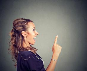 Excited woman having brilliant idea