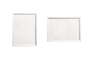 photo frame isolated on the white background.