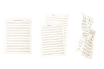 set of music sheet isolated on the white background.