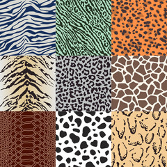 repeated wild animal print pattern