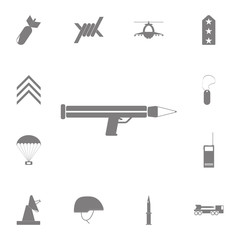grenade launcher icon. Set of military elements icon. Quality graphic design collection army icons for websites, web design, mobile app