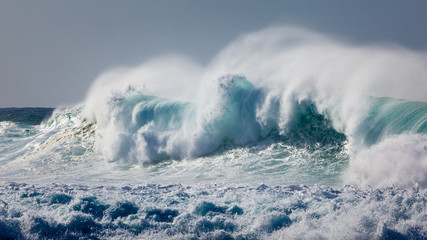 Powerful Wave Breaking near Shoreline