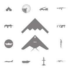stealth, bomber icon. Set of military elements icon. Quality graphic design collection army icons for websites, web design, mobile app