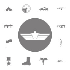 Aviation wings icon. Set of military elements icon. Quality graphic design collection army icons for websites, web design, mobile app