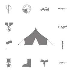 Barracks, military tent icon. Set of military elements icon. Quality graphic design collection army icons for websites, web design, mobile app