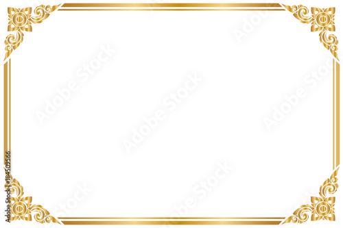 gold frame border round frame and borders golden frame on white background thai pattern vector illustration pattern