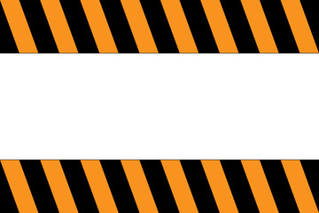 Caution stripe with copy space. Orange and black colors. Vector.