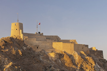 Mutrah Fort in Muscat Oman