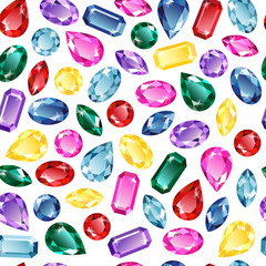 Gems background seamless pattern