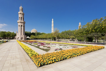 Sultan Qaboos Mosque in Muscat Oman
