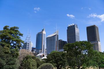 Skyline von Sydney aus seitlicher Sicht
