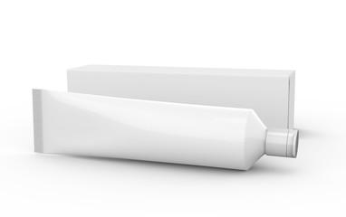 Toothpaste blank mockup