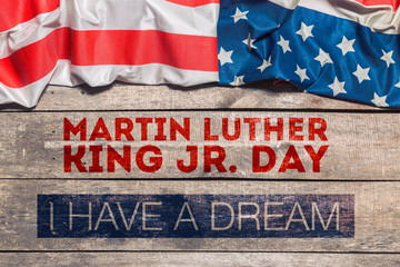 Happy martin luther king day background Fototapete