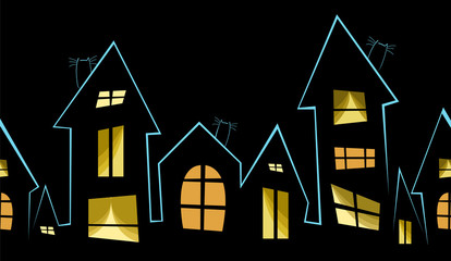 night city. seamless pattern