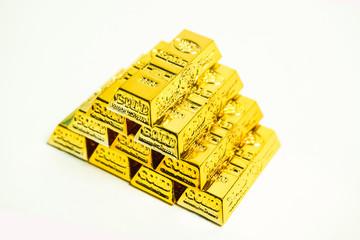 金塊、金の延べ棒、大金、銀行、ビジネス、勝者のイメージ