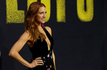 "Cast member Snow poses at the premiere for ""Pitch Perfect 3"" in Los Angeles"