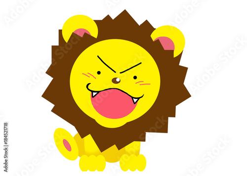 かわいいライオンのカットイラスト Stock Photo And Royalty