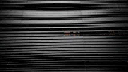 black stripe pattern shade of curtain