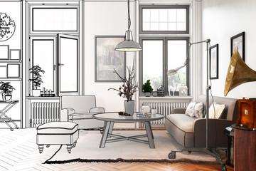 Modern Retro Style Apartment (draft)