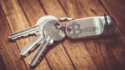 porte clé : bitcoin
