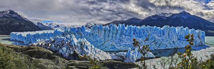 Panoramic view of Perito Moreno Glacier at Los Glaciares National Park N.P. (Argentina)