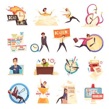 Deadline Time-Limit Icons Set