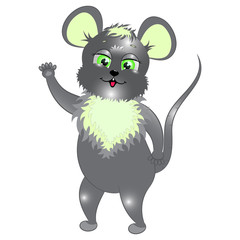 little gray mouse vector