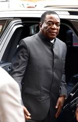 Zimbabwe's President Mnangagwa arrives to chair ZANU PF's Politburo meeting in Harare