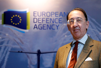 EDA Chief Executive Domecq poses after an interview with Reuters in Brussels