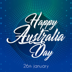 Nice and beautiful abstract for Happy Australia Day or Happy Independence Day with nice and creative design illustration, 26th of January.