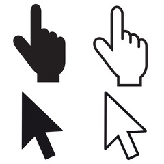 Mouse Pointer Set - Editable Vector Icons