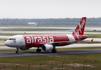 AirAsia plane arrives at Kuala Lumpur International Airport 2 (KLIA2) in Sepang