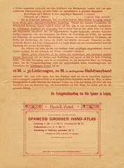 """Purchase offer for """"Spamers grosser hand-atlas"""" (from Spamers Illustrierte Weltgeschichte, 1894, 5[1])"""