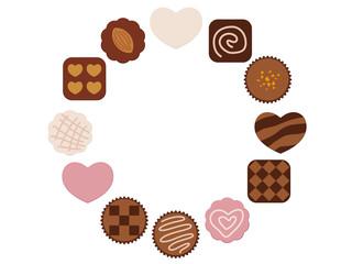 バレンタインデー チョコレートフレーム(テキスト無し)