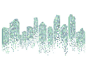 Modern City skyline vector illustration