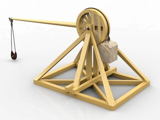 Catapult, Leonardo da Vinci, Codex Atlanticus/0160r