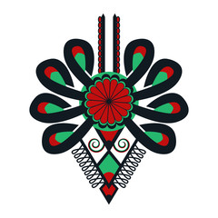 Polski folklor - wzór, parzenica