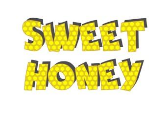 Sweet honey. Isolate on white. Vector illustration.
