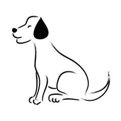 Sketchy of dog Labrador